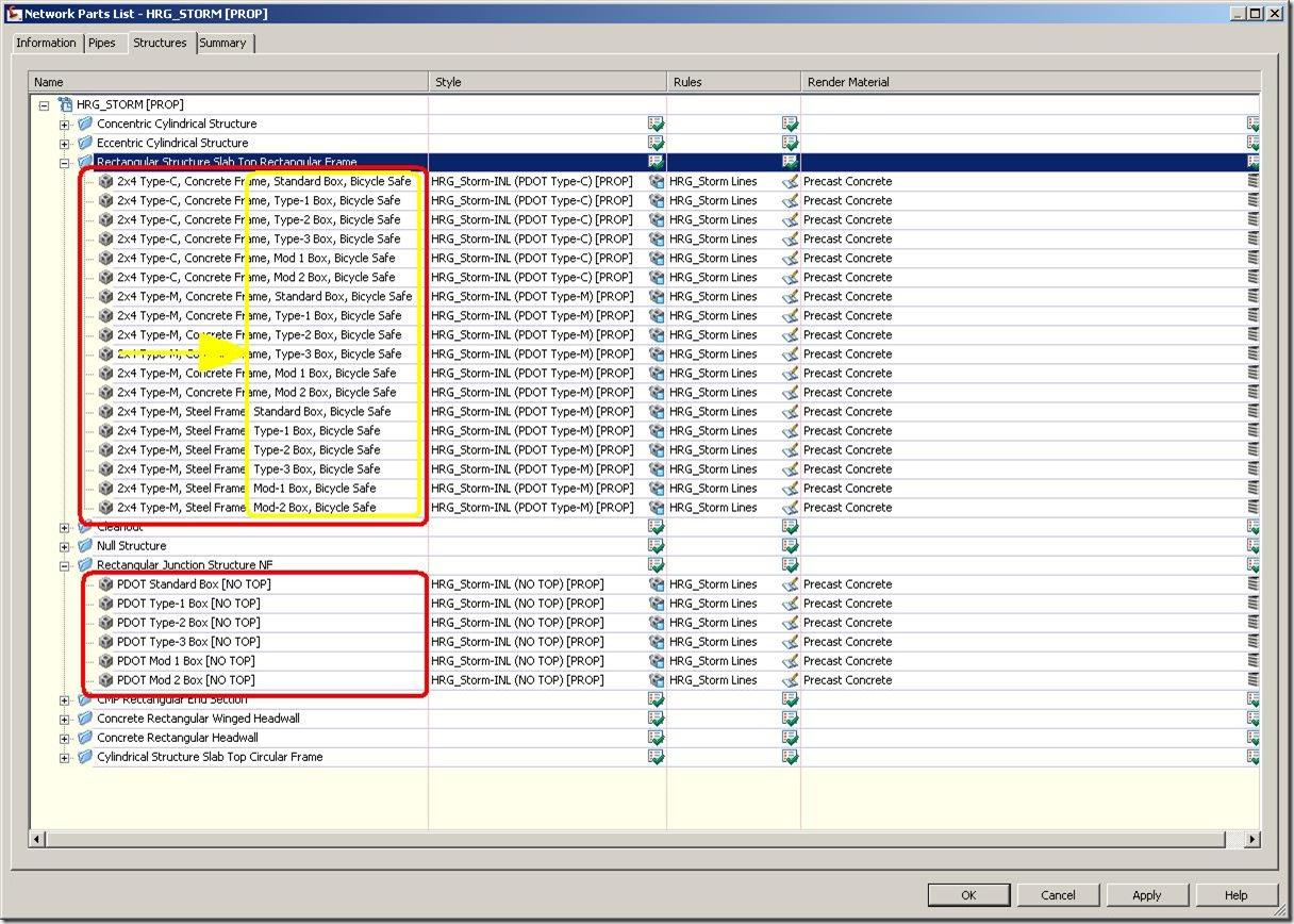 2009.08.03-PartsList Changes