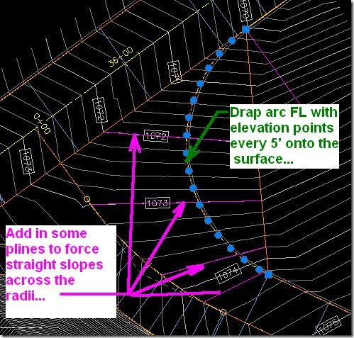 2009.11.23-Arc Featureline drap onto Surface