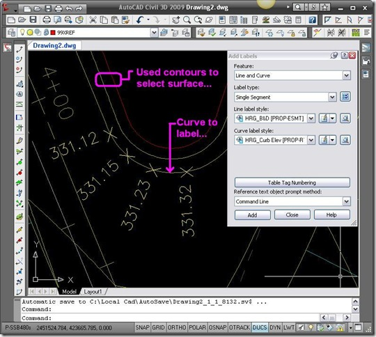 2009.11.26-Curve Labels in Dwg