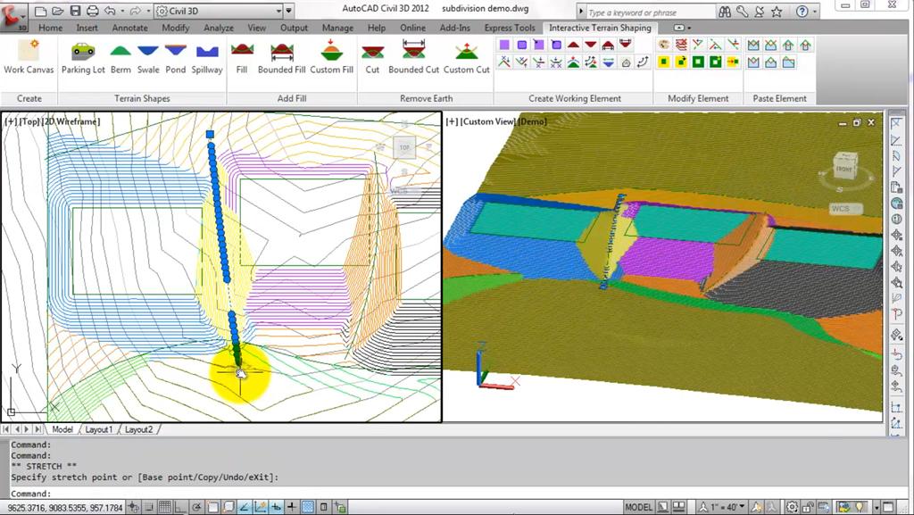civil4d com » Autodesk labs | Interactive Terrain Shaping